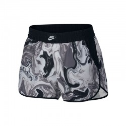 SHORT FEMME NIKE PRINTED WOVEN / GRIS