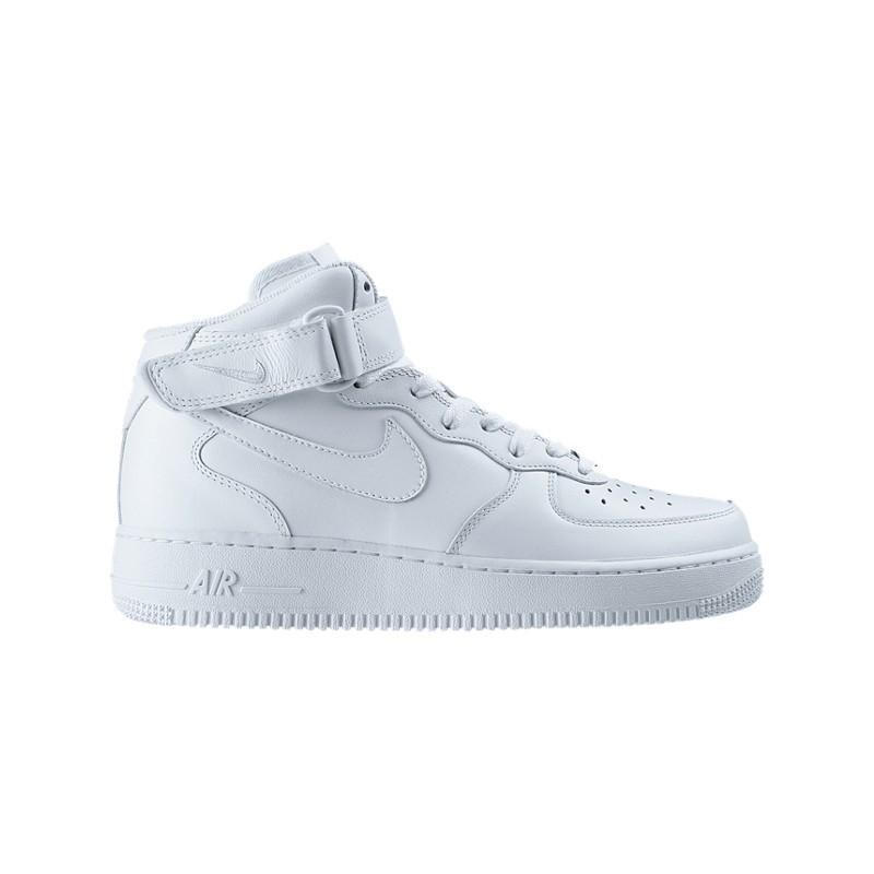 nike air force mid blanc